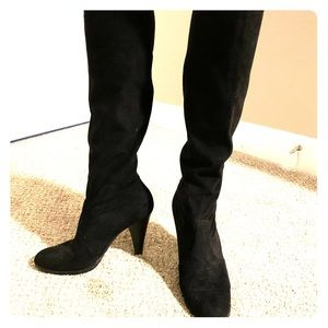 Casadei Black Suede Pull on Boot 7.5